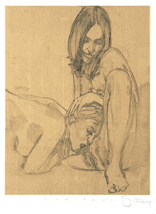 Fantôme. Monotype, 27 x 21 cm, 2008