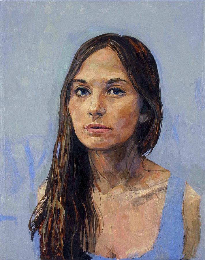 Angèle. Huile sur toile, 50 x 40 cm, 2014