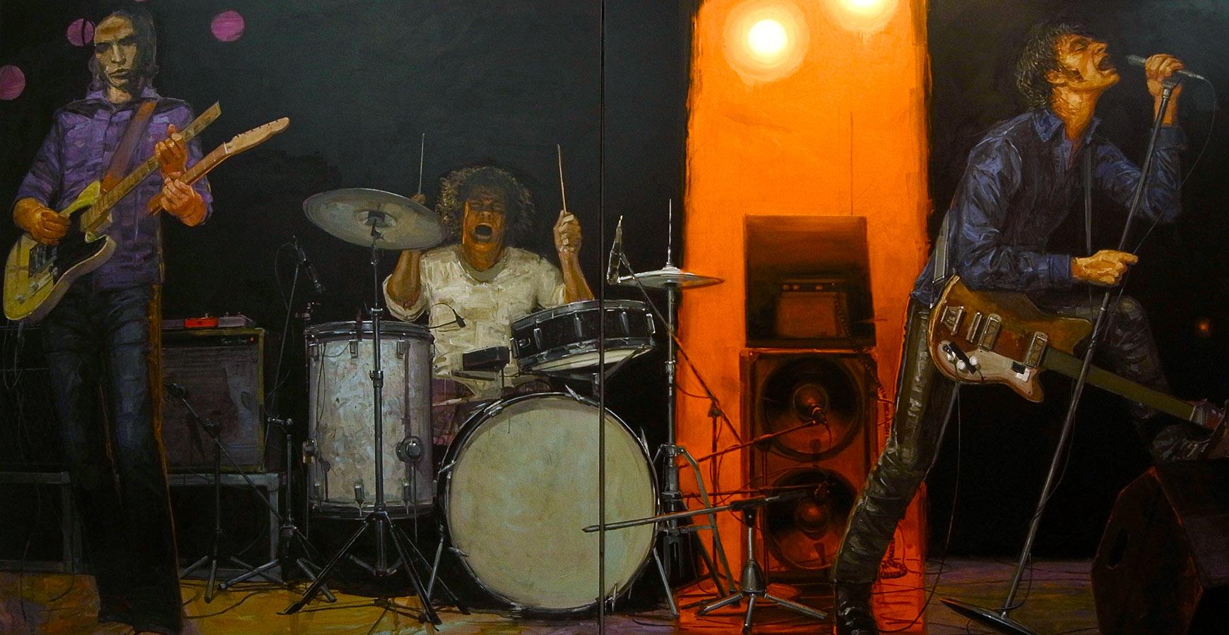 Ballroom. Diptyque, huile sur toile, 181 x 342 cm