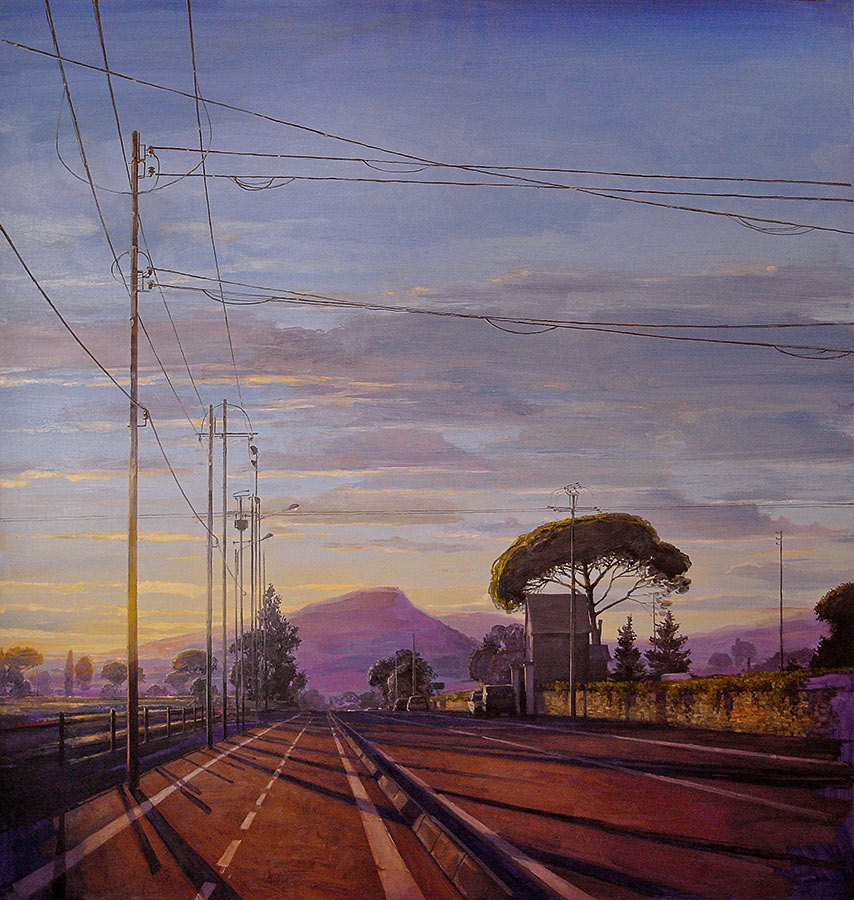 Carqueirane 1. Huile sur toile, 130x 130 cm, 2009