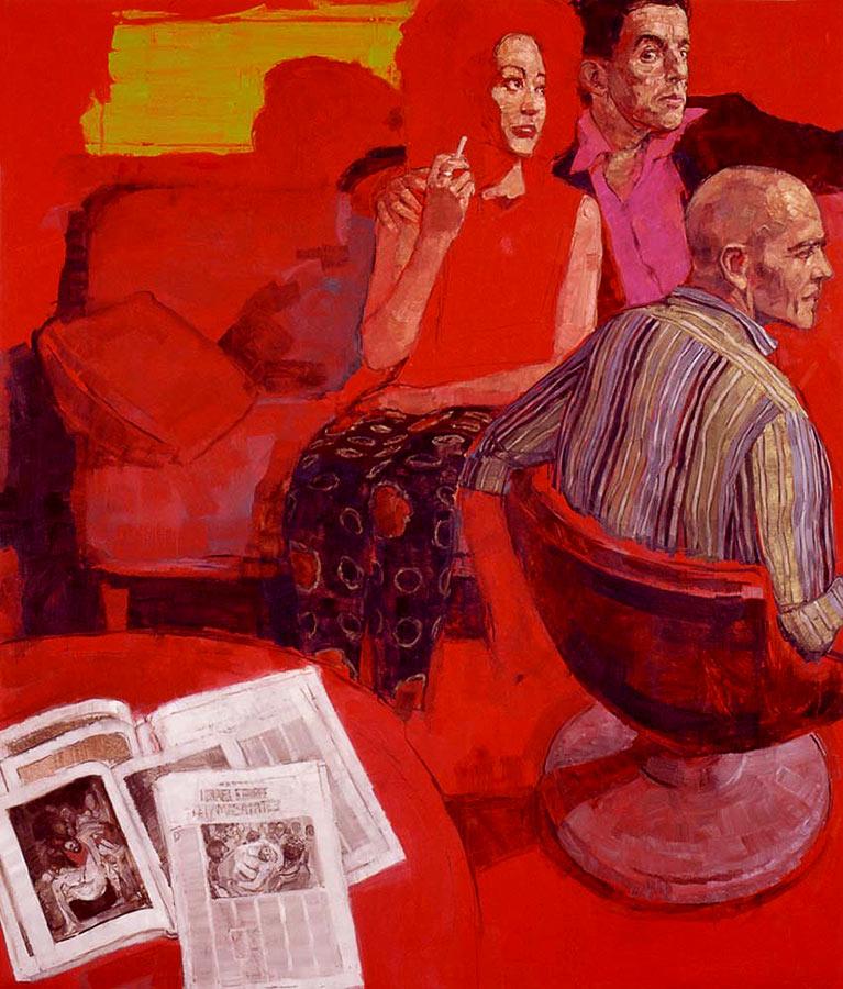 Concordance des temps. Huile sur toile, 187 x 158 cm, 2000