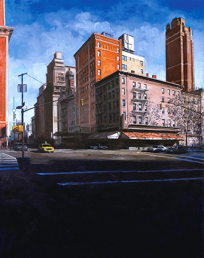 Corner. Huile sur toile, 146 x 114 cm, 2014