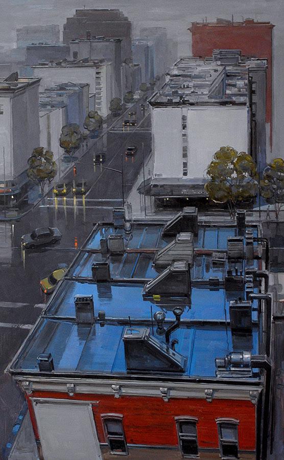 East side. Huile sur toile, 130 x 82 cm, 2005