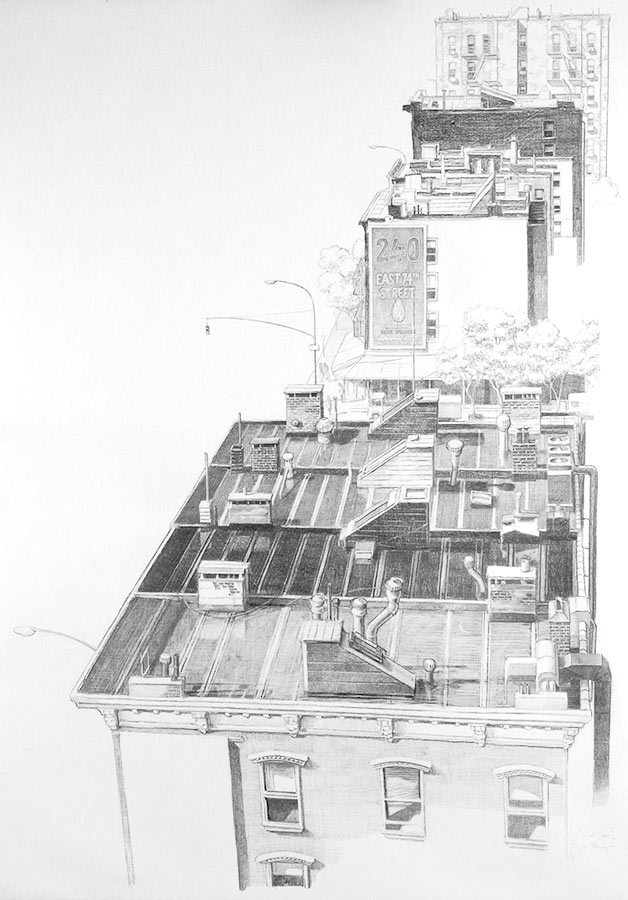 Eastside. Dessin, 150 x 90 cm, 2009