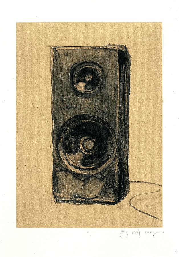 Enceinte. Monotype, 34 x 22 cm, 2013