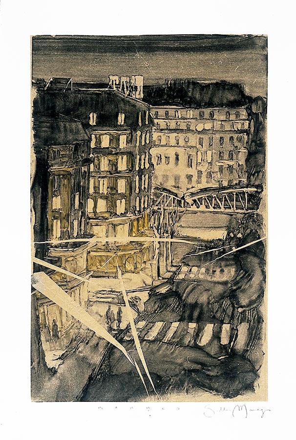 Entaille. Fantôme 3. Monotype, 34 x 22 cm, 2000
