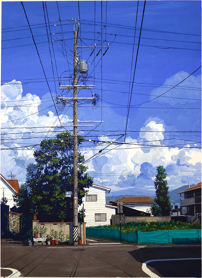 Grand Matsumoto 松本市. Gouache 100 x 70 cm, 2016