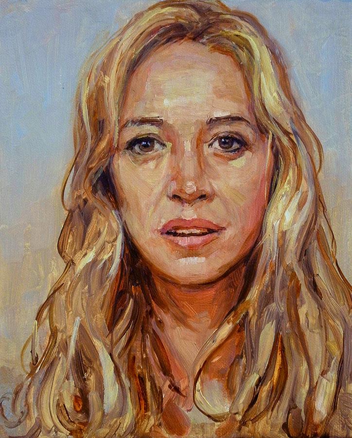 Hélène. Huile sur toile, 33 x 24 cm, 2014