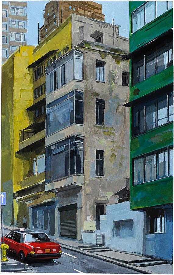 Hong Kong. Gouache 50 x 32 cm, 2016