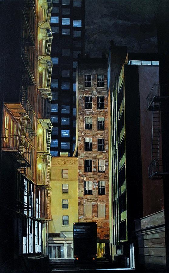 L'impasse Dead end. Huile sur toile, 190 x 135 cm, 2009