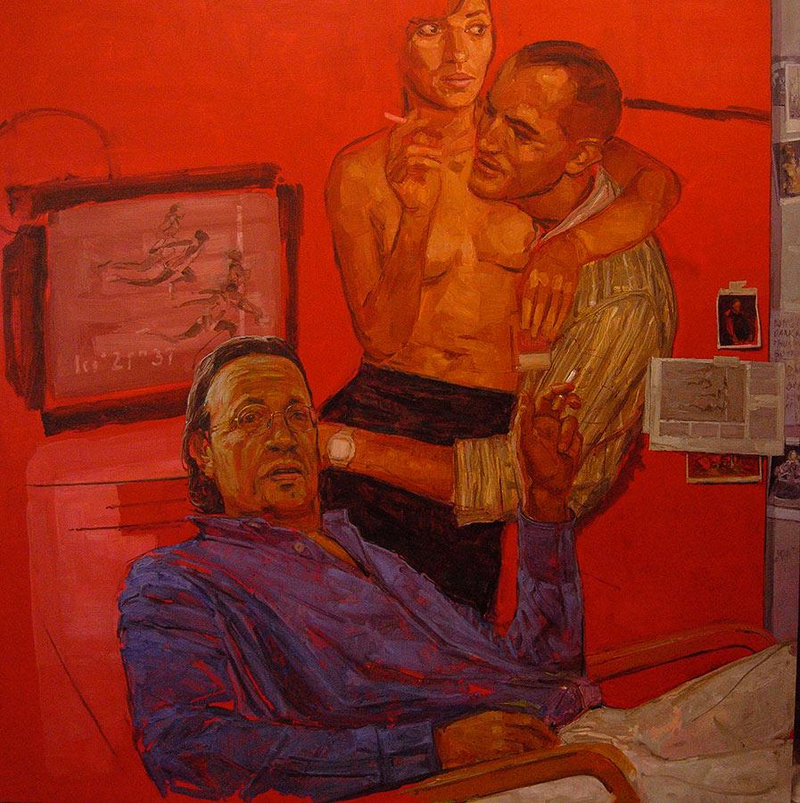 Le collectionneur. Huile sur toile, 160 x 160 cm, 2006