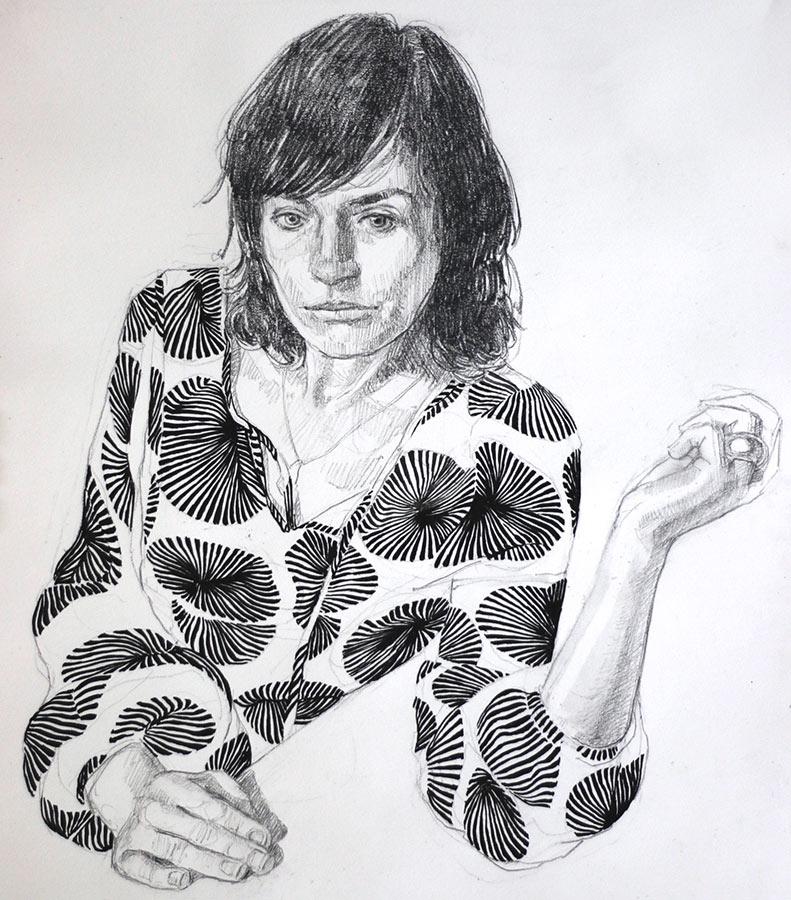 Le motif. Dessin et encre, 43 x 35,5 cm, 2016