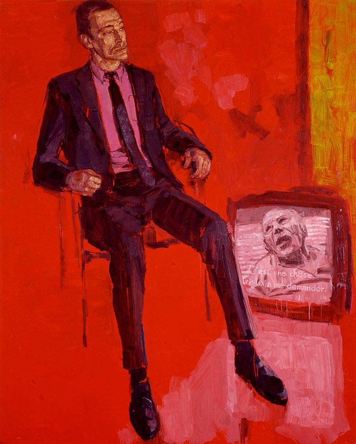 Le Traducteur 1. Huile sur toile, 200 x 160 cm, 2001