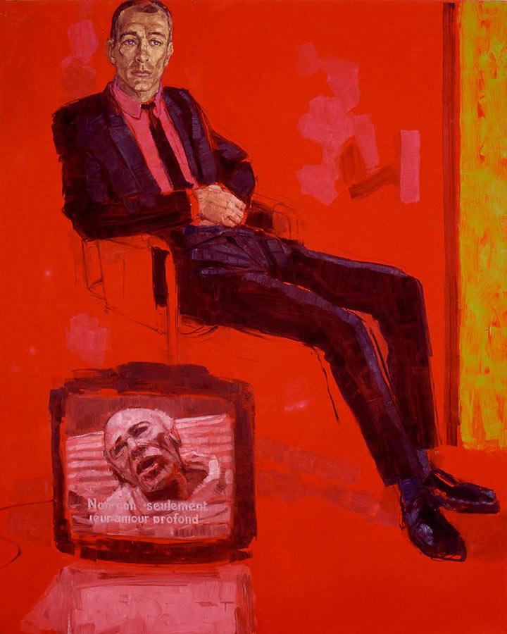 Le Traducteur 2. Huile sur toile, 200 x 160 cm, 2001