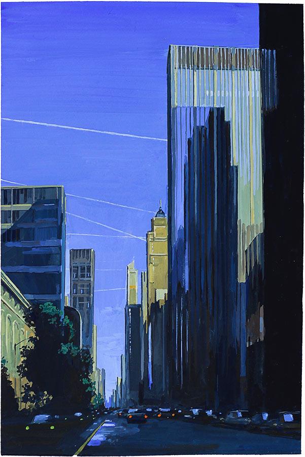 Manhattan 2. Gouache 50 x 32 cm, 2016