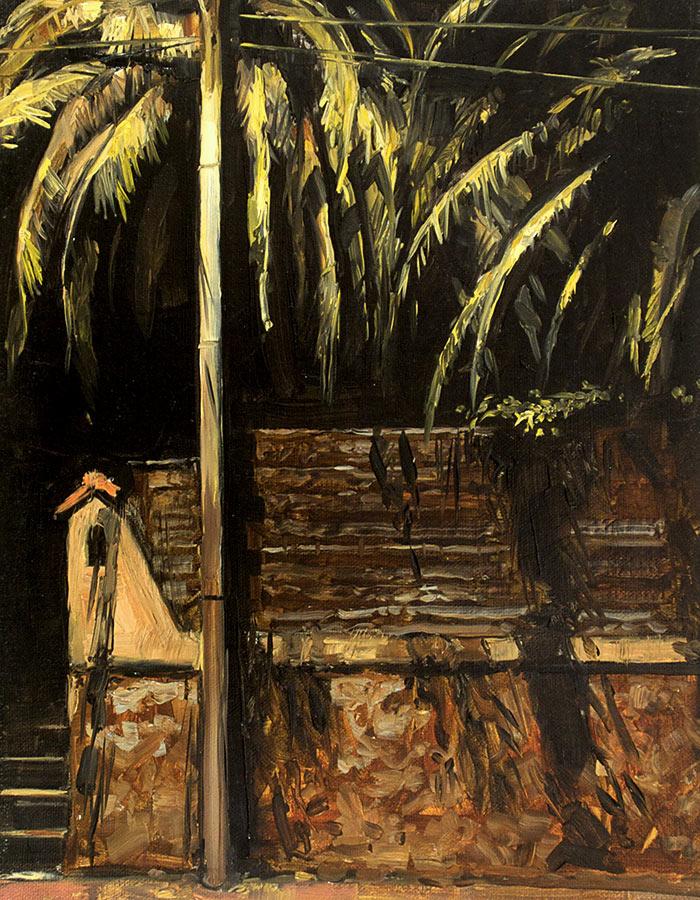 Palmier. Huile sur toile, 35 x 27 cm, 2011