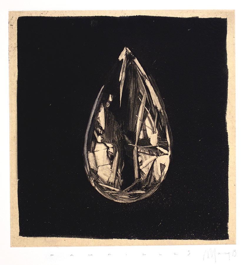 Pampilles 5. Monotype, 21 x 20 cm, 2013