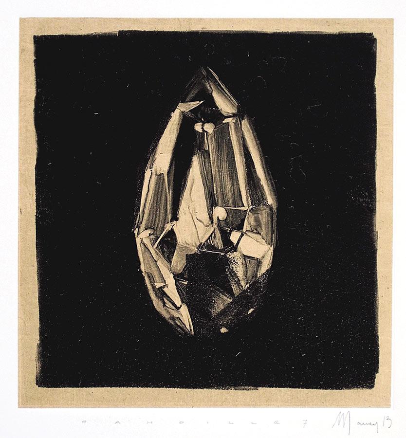 Pampilles 7. Monotype, 21 x 20 cm, 2013