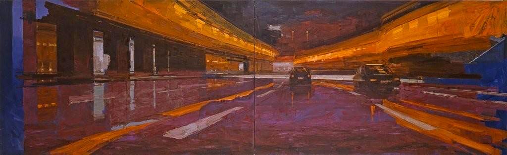 Cobalt. Huile sur toile, 97 x 292 cm, 2007