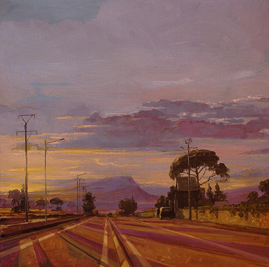 Petit Carqueirane. Huile sur toile, 50 x 50 cm, 2009
