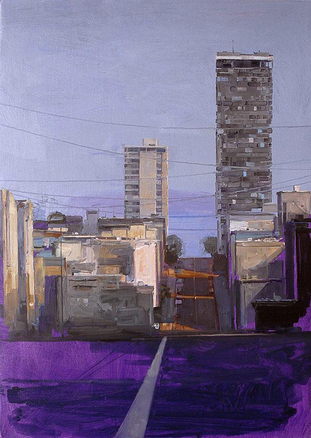 Petit San Fransisco. Huile sur toile, 35 x 24 cm, 2008