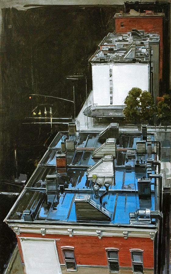 Roofs. Huile sur toile, 130 x 82 cm, 2009