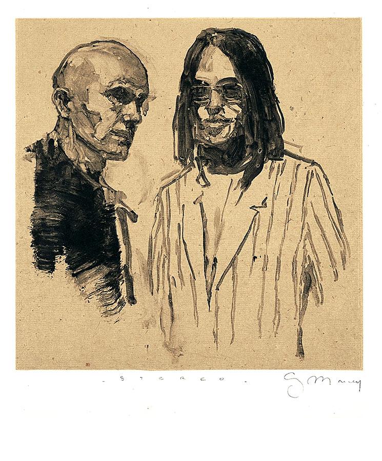 Stéréo. Monotype, 22 x 22 cm, 1998