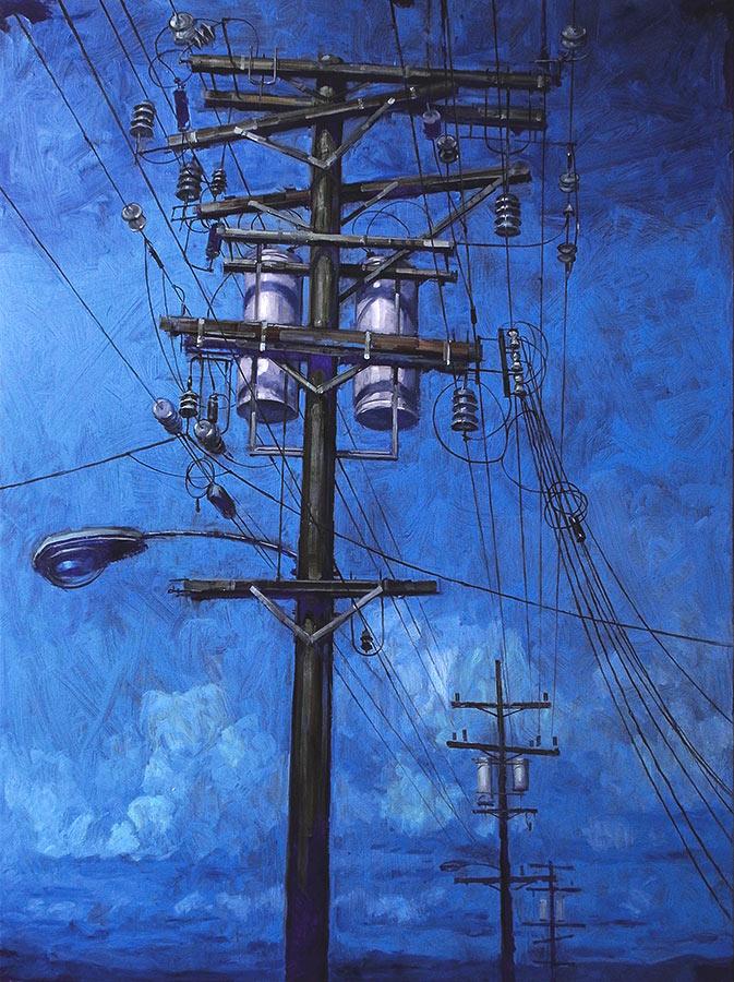 Telegraph Street 1. Huile sur toile, 130 x 97 cm, 2009