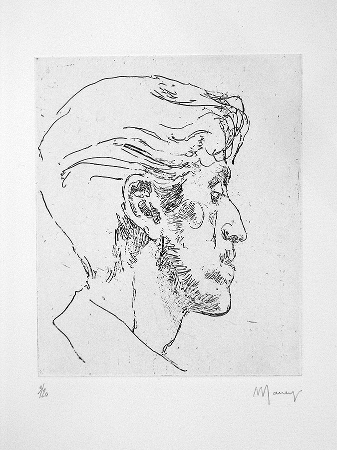 Tête d'homme 2. Gravure 18 x 13 cm, 2005