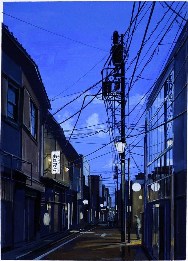 Tokyo 2. Gouache 43 x 30 cm, 2016
