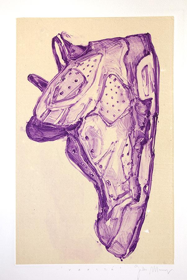 Vanité. Monotype, 34,5 x 22 cm, 2007