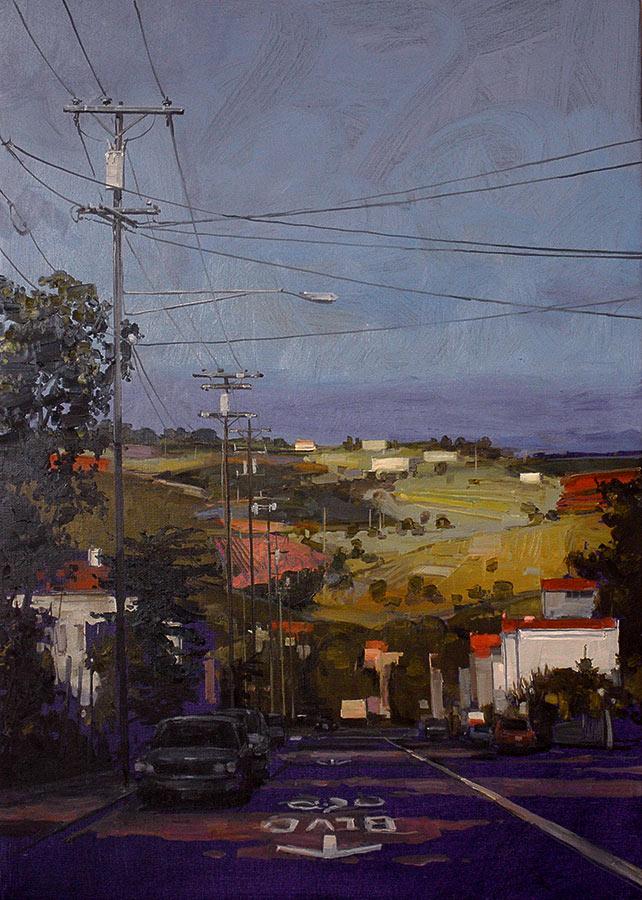 Virginia Street 2. Huile sur toile, 100 x 73 cm, 2009