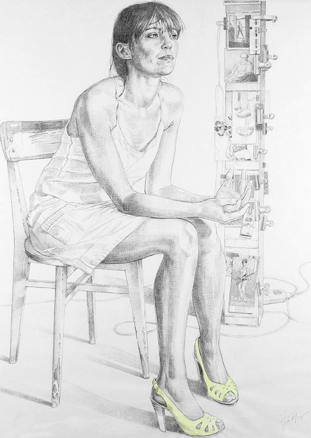 Virginie. Dessin, 150 x 90 cm, 2010