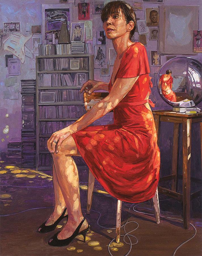 Atelier jour. Huile sur toile, 146 x 114 cm, 2011