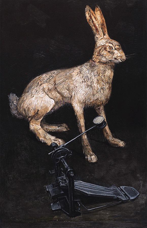 Bam ! Huile sur toile, 96 x 50 cm, 2012