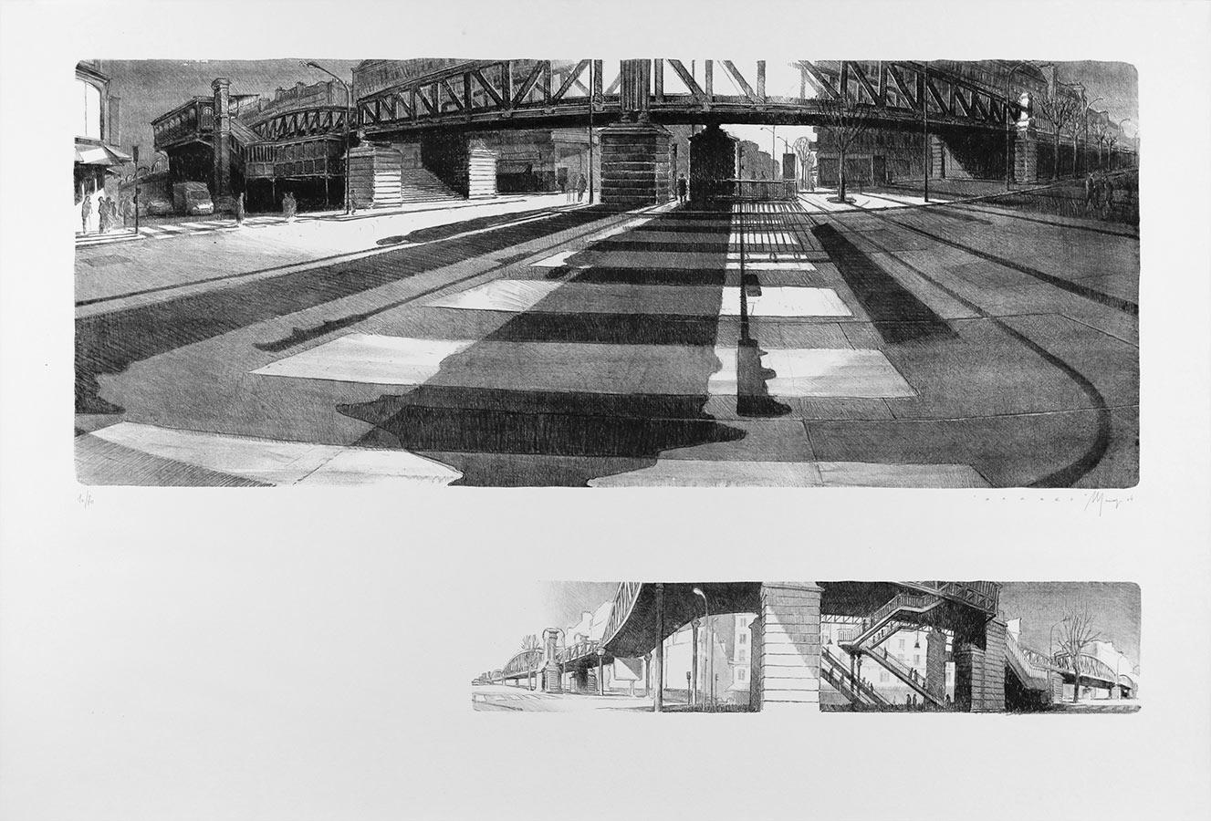 Barbès. Lithographie 70 ex. 75 x 110 cm, 2004