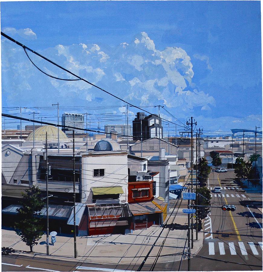 Yahaya road. Gouache, 45 x 45 cm, 2016