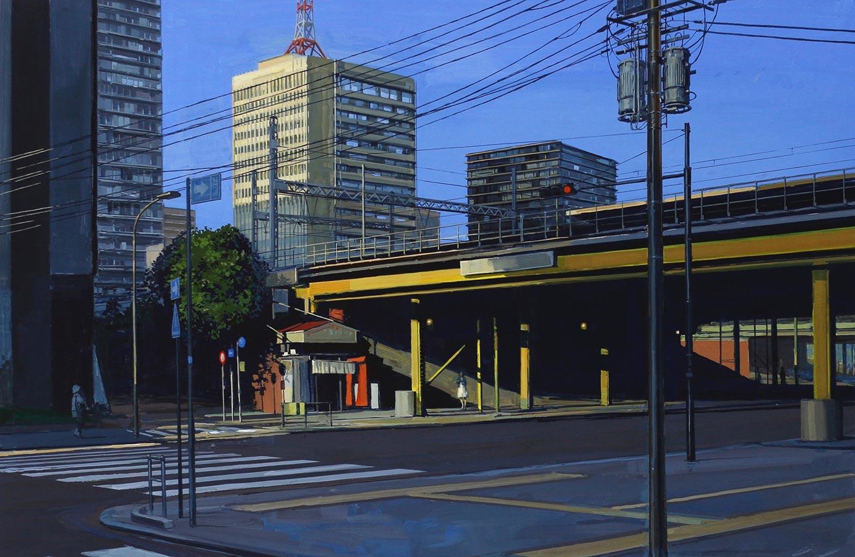 Tokyo. Gouache, 75 x 105 cm, 2017