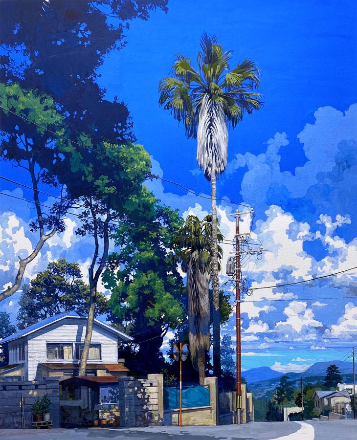 Collines. Gouache, 105 x 76 cm, 2020