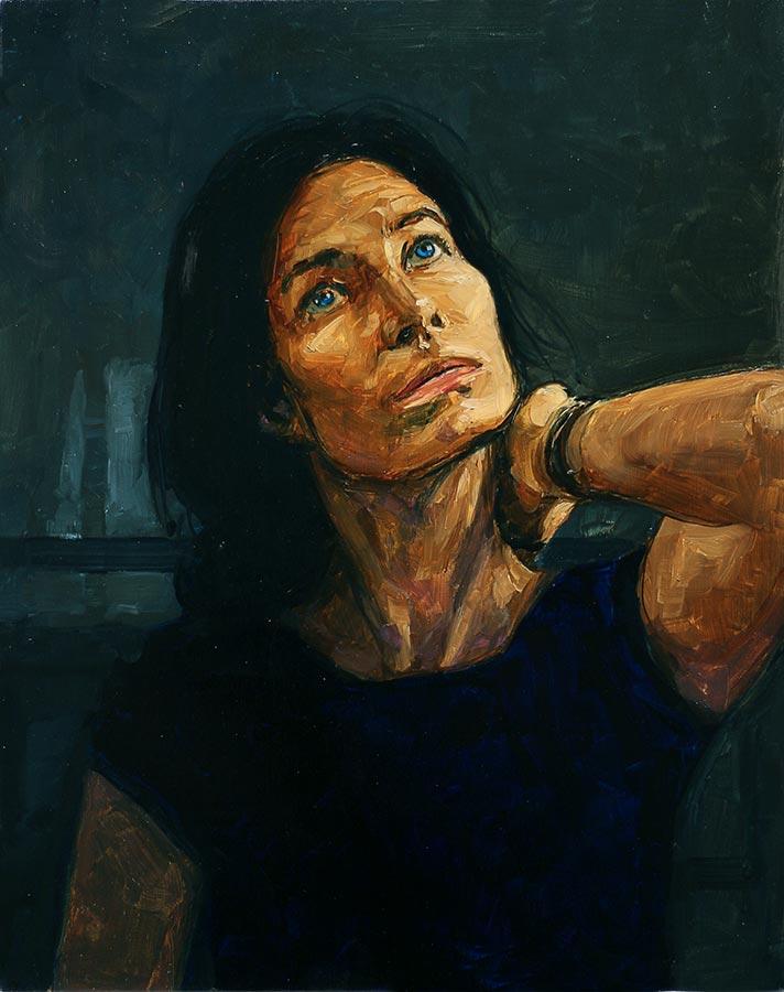 Isabelle. Huile sur toile, 43 x 34cm, 2019