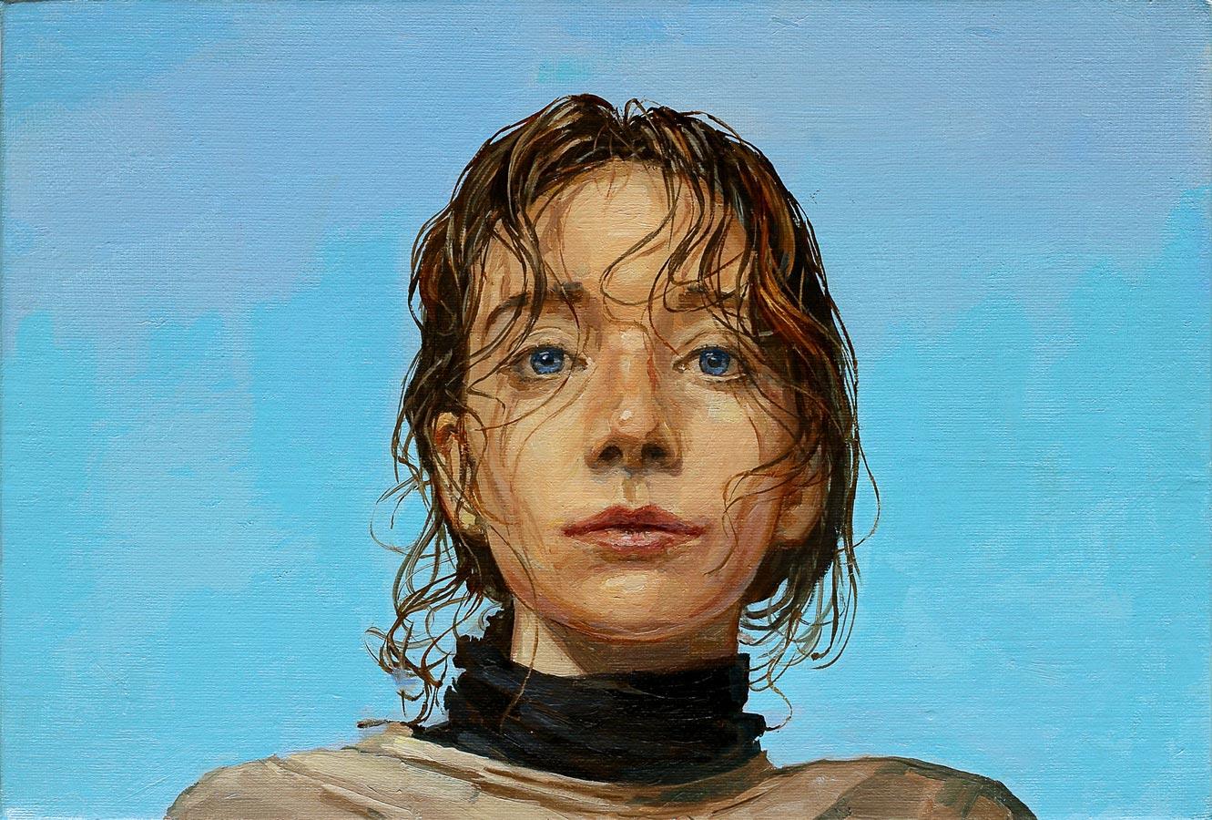 Lila bleu. Huile sur toile, 24 x 35 cm, 2020