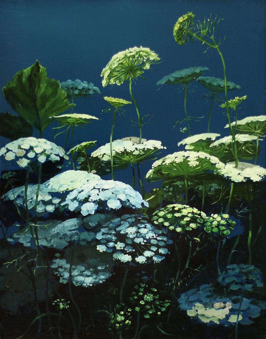 Last flowers. Huile sur toile, 93 x 74 cm, 2020.