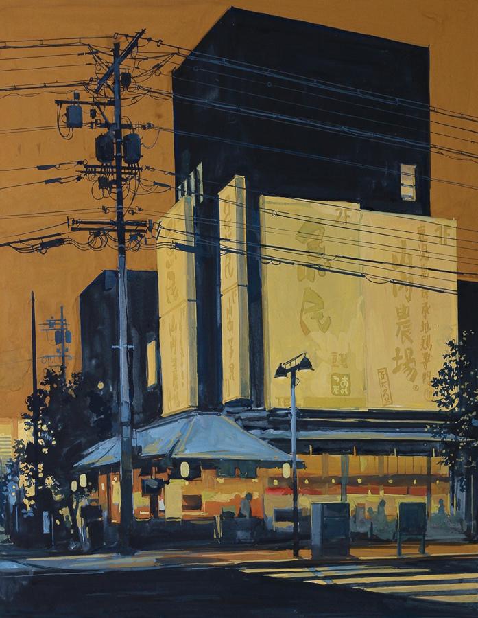 Shibuya nights. Gouache, 62 x 48cm, 2021